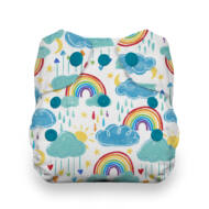 Thirsties All-in-one NATURAL patentos mosható pelenka újszülötteknek (2-6kg) Rainbow