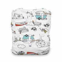Thirsties All-in-one NATURAL egyméretes mosható pelenka (4-18kg) Happy camper