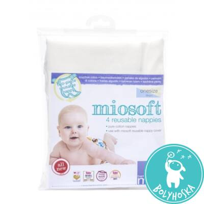 Bambino Mio egyméretes 100% pamut prefold pelenka (4 db/csomag) 5kg+