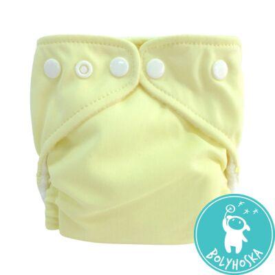 Charlie Banana mosható pelenka újszülött méret (1 pelenka+1 betét) Vanília sárga
