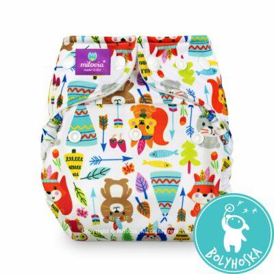 Milovia Tipi friends Coolmax egyméretes zsebes mosható pelenka (4-16kg)