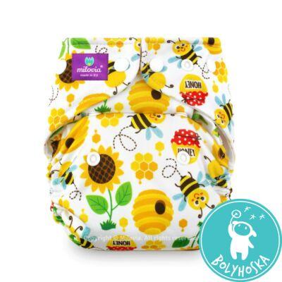 Milovia Sweet bee Coolmax egyméretes zsebes mosható pelenka (4-16kg)