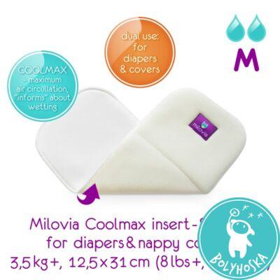 """Milovia Coolmax nedvszívó betét mosható pelenkához és külsőhöz """"M"""" (3,5kg-)"""