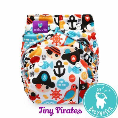 Milovia Tiny Pirates mikropolár egyméretes zsebes mosható pelenka (4-16kg)
