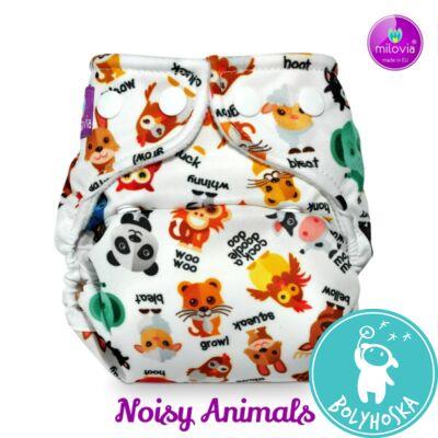 """Milovia Noisy Animals mosható pelenkakülső újszülötteknek """"S"""" méret (2,5-7kg)"""