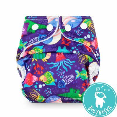 """Milovia Hippo and Friends Unique mosható pelenkakülső újszülötteknek """"S"""" méret (2,5-7kg)"""