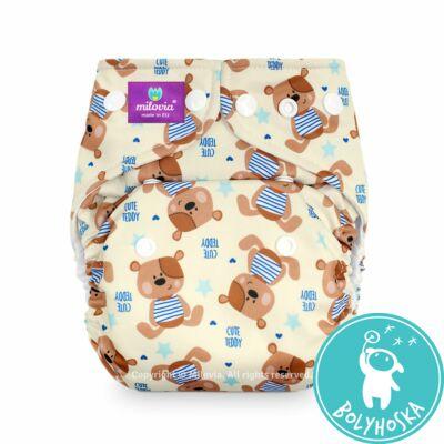 Milovia Cute teddy mikropolár egyméretes zsebes mosható pelenka (4-16kg)