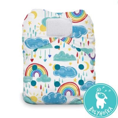 Thirsties All-in-one egyméretes mosható pelenka (4-18kg) Rainbow tépős