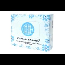 Charlie Banana 2-in-1 bambusz törlőkendő és papírbetét (100 db-os csomag)