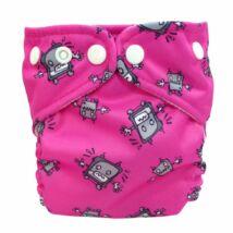 Charlie Banana zsebes mosható pelenka újszülött méret (+betét) Robot Girl