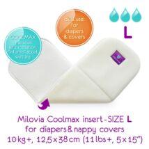 """Milovia Coolmax nedvszívó betét mosható pelenkához és külsőhöz """"L"""" (10kg-)"""