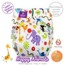 Milovia Happy Animals Unique mikropolár egyméretes zsebes pelenka (4-16kg)