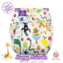 Milovia Happy Animals egyméretes mosható pelenkakülső (4-16kg)