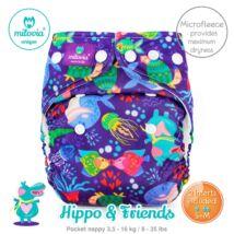 Milovia Hippo&Friend Unique mikropolár egyméretes zsebes mosható pelenka (4-16kg)