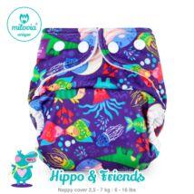 """Milovia Hippo&Friend Unique mosható pelenkakülső újszülötteknek """"S"""" méret (2,5-7kg)"""