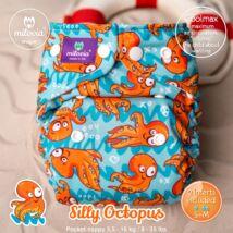 Milovia Silly Octopus Unique Coolmax egyméretes zsebes mosható pelenka (4-16kg)