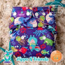Milovia Hippo&Friend Unique Coolmax egyméretes zsebes mosható pelenka (4-16kg)