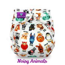 Milovia Noisy Animals egyméretes mosható pelenkakülső (4-16kg)
