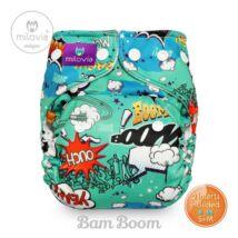 Milovia Bam Boom Unique mikropolár egyméretes zsebes  mosható pelenka (4-16kg)